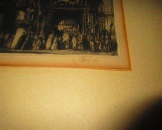 Signature - Engraving - Cathedral by: L. Rosenfield