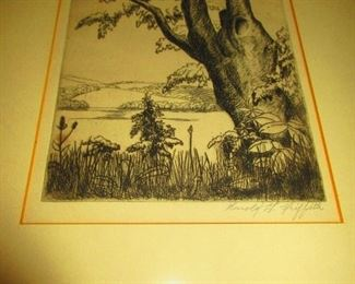 Tree Study - by: Harold G. Griffith - Accepted at the Cleveland Museum of Art 13th Annual Exhibition 1931