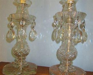Cut Crystal Boudoir Lamps