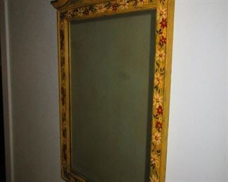 Hand Painted Vintage Mirror