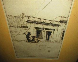 """Leland Fuller - California W.P.A. - """"Barley Water Peddler Mazatlan"""""""