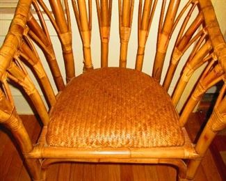 Art Deco Style Bamboo Chair
