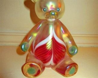 Abelman Art Glass Bear