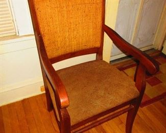 Mission Oak Arm Chair with Woven Back