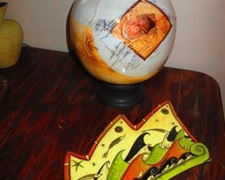 Studio Pottery Vessle and Plaque