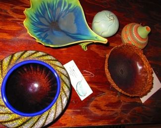 Studio Pottery and Art Glass Bowls & Vessels