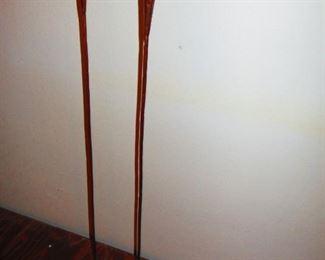 Calla Lily Copper and Art Glass Candlesticks