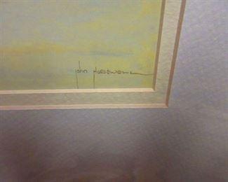 Signature, John Horsewell, Painting of Sea