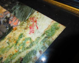 Signature on Pietra Dura