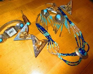 Sterling and Turquoise Native Jewels