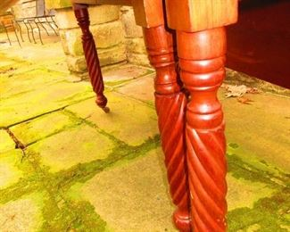 Detail of Legs on 19th c. American Drop-leaf Table