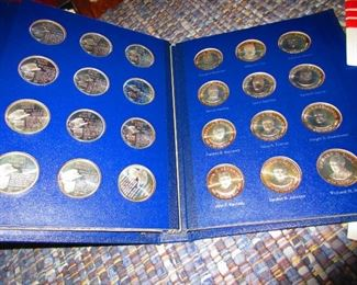 Detail of Sterling Presidential Coin Set