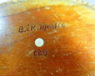 Signature and Number on Bob & Karen Marks Nantucket Basket Purse