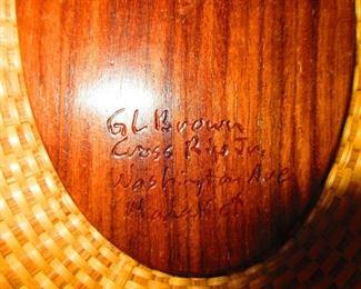 Signature on Gerald L Brown Nantucket Basket Purse