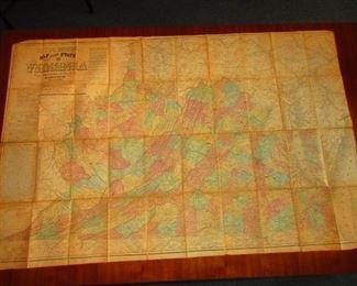 Civil War Era Map Ca. 1862. Lloyd's LG Map of the State of Virginia.