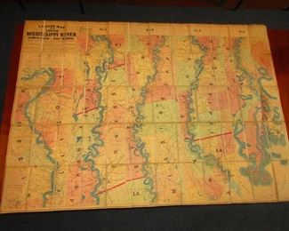 Civil War Era Map of Mississippi River ca. 1862Published by E. Mendenhall Map of the Territory of Arkansas, Mississippi and Louisiana
