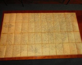 Civil War Era Map of Southern States Belonging to General G.W. Morgan Ca. 1862. (Rail Road Map of the Southern States), P.S. Douval & Son