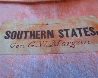 Detail of Civil War Era Map of Southern States Belonging to General G.W. Morgan Ca. 1862. Rail Road Map of the Southern States, P.S. Douval & Son