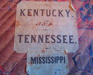 Detail of Civil War Era Map of Kentucky & Tennessee Belonging to General G.W. Morgan Ca. 1862. New Map of Kentucky and Tennessee, Middleton & Strobridge Co.