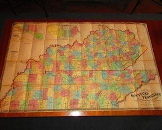 LG Civil War Era Map of Kentucky & Tennessee Belonging to General G.W. Morgan Ca. 1862. Middleton Strobridge & Co.