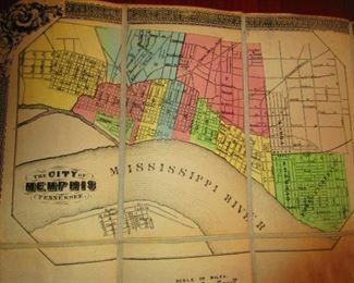 Detail to LG Civil War Era Map of Kentucky & Tennessee, Belonging to General G.W. Morgan Ca. 1862. Middleton Strobridge & Co.