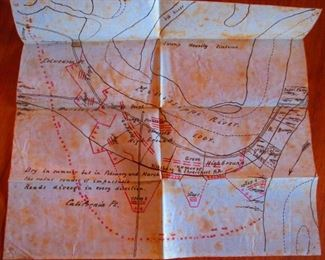 Hand  drawn map detailing positions of Union forces near Young's Point, Louisiana during the Vicksburg Campaign, ca. early 1863; attributed to General George W. Morgan.