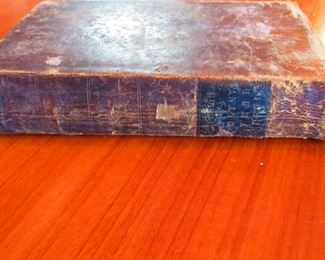 """Spine of """"A System of Human Anatomy"""" Illustrated Medical Book ca. 1848"""
