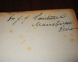 """Signature in """"A System of Human Anatomy"""" Illustrated Medical Book ca. 1848"""