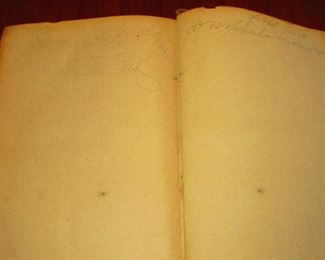 """Signatures in """"A System of Human Anatomy"""" Illustrated Medical Book ca. 1848"""