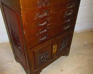 Chinoiserie Flatware Cabinet