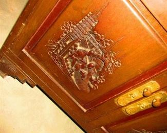 Detail of Chinoiserie Cabinet