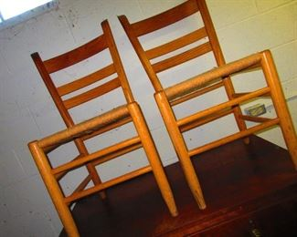 Pair of Ladder-back Chairs