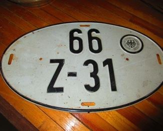 German License Plate