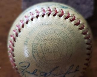 Mark on 1950 Yankees World Series Team Signed Baseball