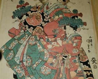 Antique Japanese Print believed to be by Kunisada