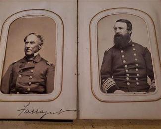 Detail to Civil War CDV Album, belonging to General George W. Morgan. Circa 1860's
