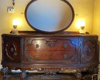 Antique Buffet  & mirror Four hundred