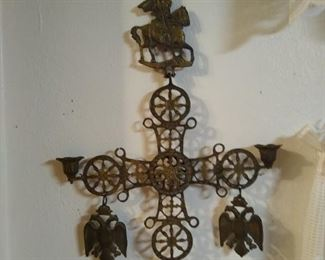 Antique Brass Wall Hanging X 2