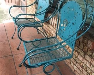 Vintage Metal Patio Chairs