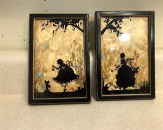 Fiary silhouette framed art
