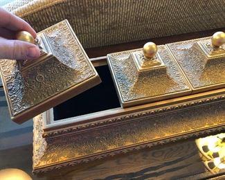 Gold Color 3 lidded box
