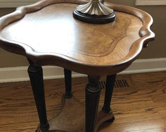Pie Crust Wooden Accent Side Table