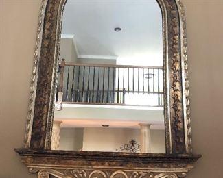 large fireplace mirror