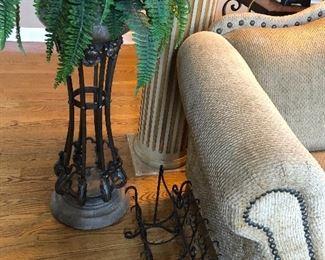 floor plant and magazine rack