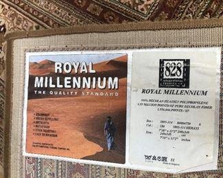 """Royal Millennium Rug 7'10"""" x 11'2"""" 100% Decolan Heatset Polypropylene"""