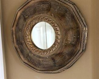 round wall decor mirror
