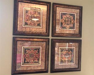 qty 6 matching wall art