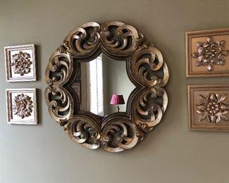 Wall art and mirror