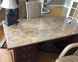 double ped desk