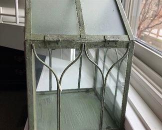 glass lantern decor
